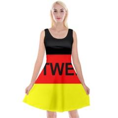Rottweiler Name On Flag Reversible Velvet Sleeveless Dress