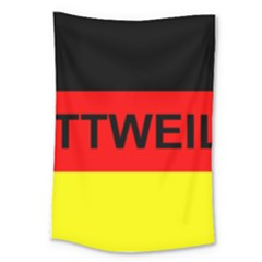 Rottweiler Name On Flag Large Tapestry