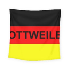 Rottweiler Name On Flag Square Tapestry (Small)