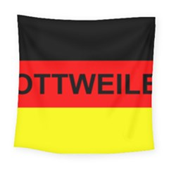 Rottweiler Name On Flag Square Tapestry (Large)