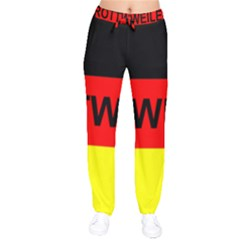 Rottweiler Name On Flag Drawstring Pants