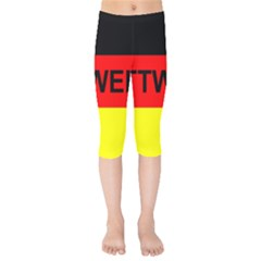 Rottweiler Name On Flag Kids  Capri Leggings