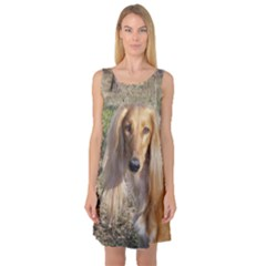 Saluki Sleeveless Satin Nightdress