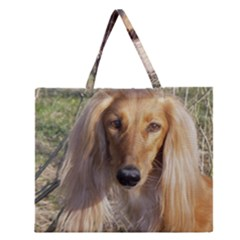 Saluki Zipper Large Tote Bag