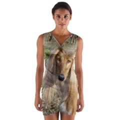 Saluki Wrap Front Bodycon Dress