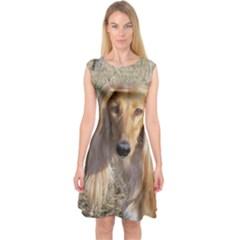 Saluki Capsleeve Midi Dress