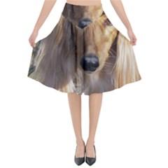 Saluki Flared Midi Skirt