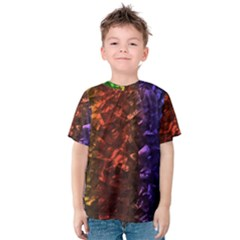 Multi Color Magical Unicorn Rainbow Shimmering Mother of Pearl Kids  Cotton Tee