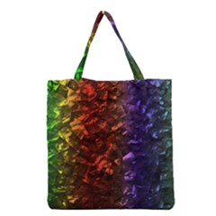 Multi Color Magical Unicorn Rainbow Shimmering Mother of Pearl Grocery Tote Bag