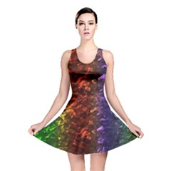 Multi Color Magical Unicorn Rainbow Shimmering Mother of Pearl Reversible Skater Dress