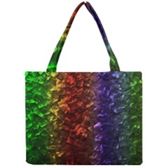 Multi Color Magical Unicorn Rainbow Shimmering Mother of Pearl Mini Tote Bag