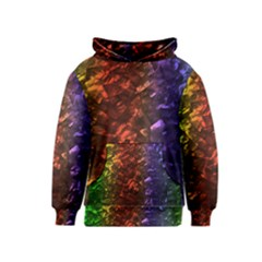 Multi Color Magical Unicorn Rainbow Shimmering Mother of Pearl Kids  Pullover Hoodie