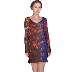 Multi Color Magical Unicorn Rainbow Shimmering Mother of Pearl Long Sleeve Nightdress