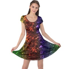 Multi Color Magical Unicorn Rainbow Shimmering Mother of Pearl Cap Sleeve Dresses