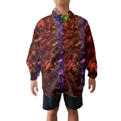 Multi Color Magical Unicorn Rainbow Shimmering Mother of Pearl Wind Breaker (Kids)