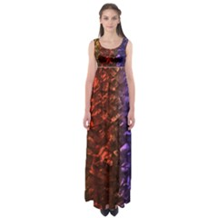 Multi Color Magical Unicorn Rainbow Shimmering Mother of Pearl Empire Waist Maxi Dress