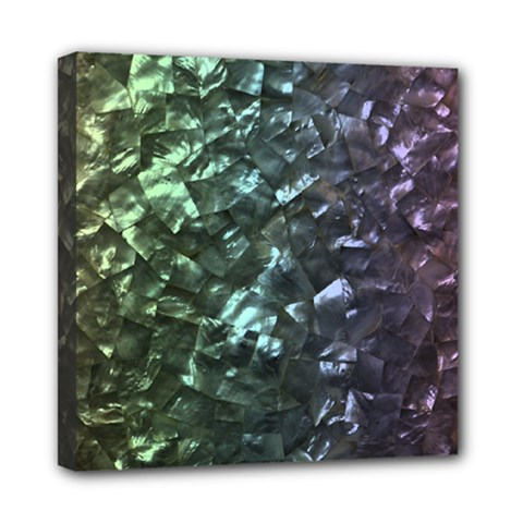 Natural Shimmering Mother of Pearl Nacre  Mini Canvas 8  x 8