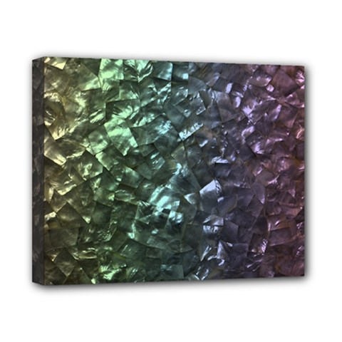 Natural Shimmering Mother of Pearl Nacre  Canvas 10  x 8