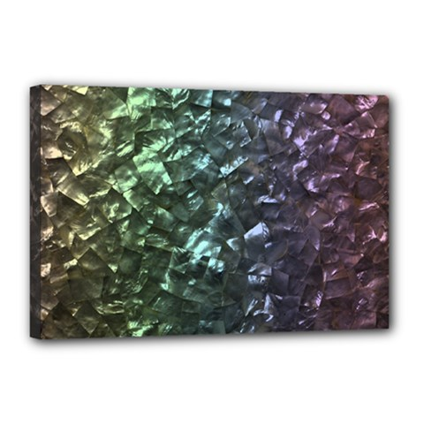 Natural Shimmering Mother of Pearl Nacre  Canvas 18  x 12