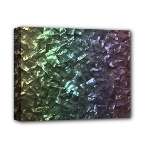 Natural Shimmering Mother of Pearl Nacre  Deluxe Canvas 14  x 11
