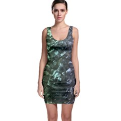 Natural Shimmering Mother of Pearl Nacre  Sleeveless Bodycon Dress