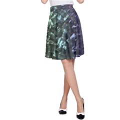 Natural Shimmering Mother of Pearl Nacre  A-Line Skirt