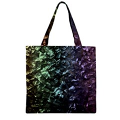 Natural Shimmering Mother of Pearl Nacre  Zipper Grocery Tote Bag