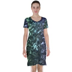 Natural Shimmering Mother of Pearl Nacre  Short Sleeve Nightdress