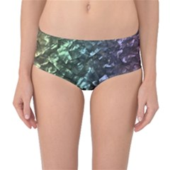 Natural Shimmering Mother Of Pearl Nacre  Mid Waist Bikini Bottoms