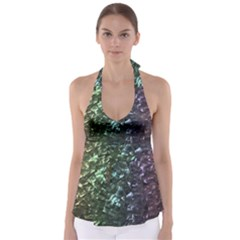 Natural Shimmering Mother of Pearl Nacre  Babydoll Tankini Top