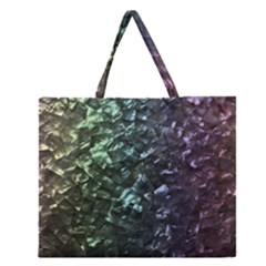 Natural Shimmering Mother of Pearl Nacre  Zipper Large Tote Bag
