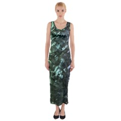 Natural Shimmering Mother of Pearl Nacre  Fitted Maxi Dress
