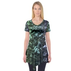 Natural Shimmering Mother of Pearl Nacre  Short Sleeve Tunic