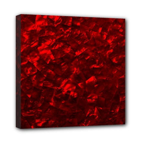 Hawaiian Red Hot Lava Mother of Pearl Nacre  Mini Canvas 8  x 8