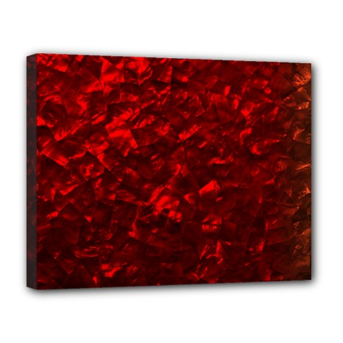 Hawaiian Red Hot Lava Mother of Pearl Nacre  Canvas 14  x 11