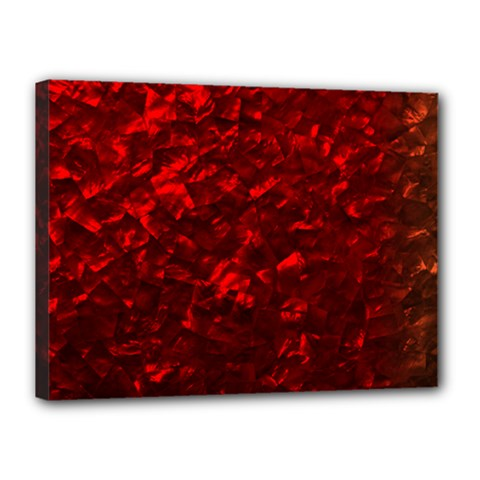 Hawaiian Red Hot Lava Mother of Pearl Nacre  Canvas 16  x 12