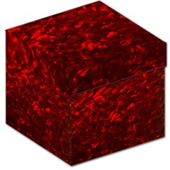 Hawaiian Red Hot Lava Mother of Pearl Nacre  Storage Stool 12