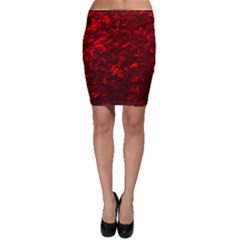 Hawaiian Red Hot Lava Mother of Pearl Nacre  Bodycon Skirt