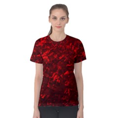 Hawaiian Red Hot Lava Mother of Pearl Nacre  Women s Cotton Tee