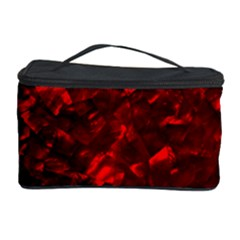 Hawaiian Red Hot Lava Mother of Pearl Nacre  Cosmetic Storage Case