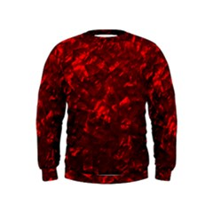 Hawaiian Red Hot Lava Mother of Pearl Nacre  Kids  Sweatshirt