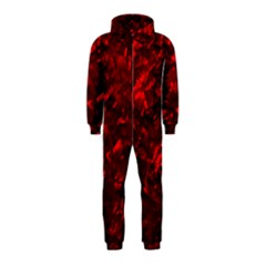 Hawaiian Red Hot Lava Mother of Pearl Nacre  Hooded Jumpsuit (Kids)