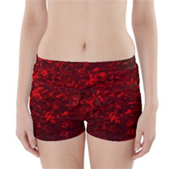 Hawaiian Red Hot Lava Mother of Pearl Nacre  Boyleg Bikini Wrap Bottoms