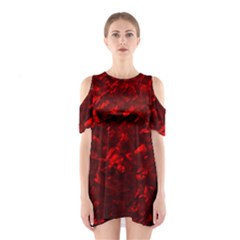 Hawaiian Red Hot Lava Mother of Pearl Nacre  Shoulder Cutout One Piece