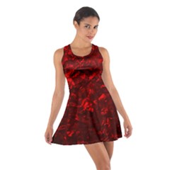 Hawaiian Red Hot Lava Mother of Pearl Nacre  Cotton Racerback Dress