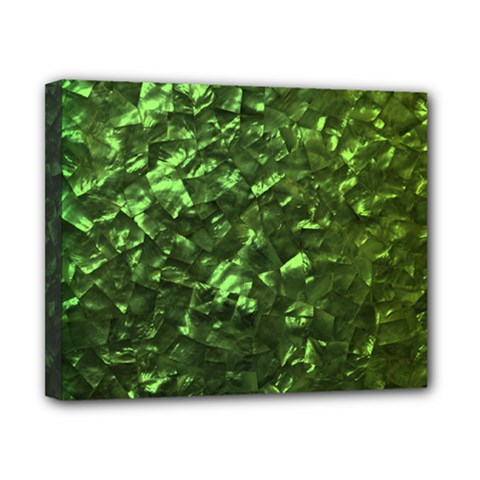 Bright Jade Green Jewelry Mother of Pearl Canvas 10  x 8