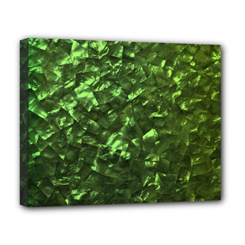 Bright Jade Green Jewelry Mother of Pearl Deluxe Canvas 20  x 16