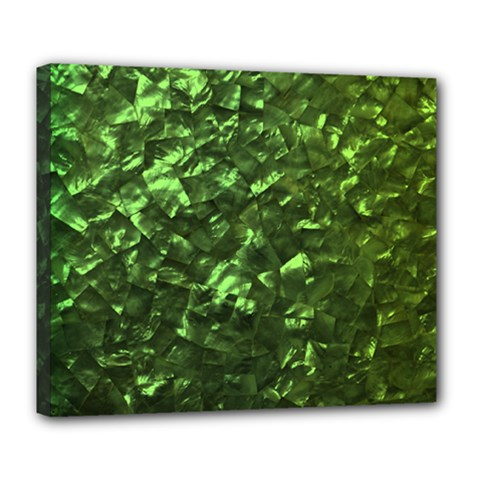 Bright Jade Green Jewelry Mother of Pearl Deluxe Canvas 24  x 20