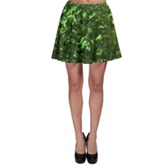 Bright Jade Green Jewelry Mother of Pearl Skater Skirt