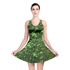 Bright Jade Green Jewelry Mother of Pearl Reversible Skater Dress